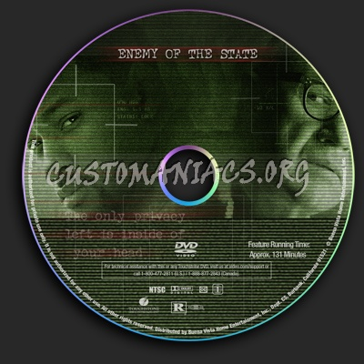 Enemy Of The State dvd label