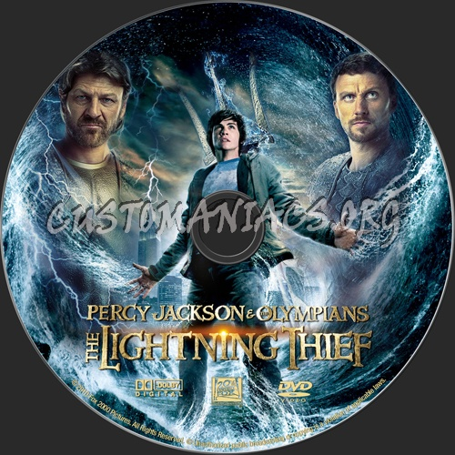 Percy Jackson And The Olympians: The Lightning Thief dvd label