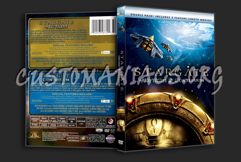 Stargate The Ark of Truth + Continuum dvd cover