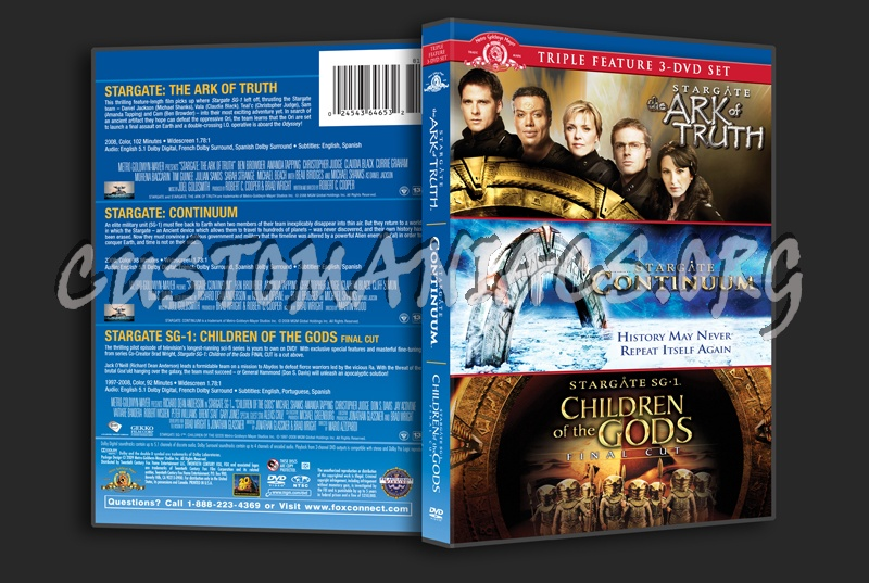 Stargate The Ark of Truth / Continuum / Children of the Gods dvd cover
