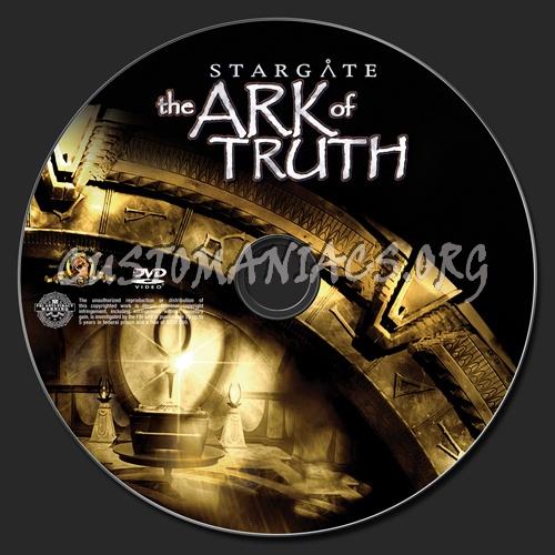 Stargate the Ark of Truth dvd label