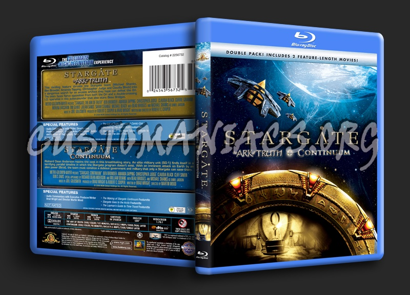 Stargate The Ark of Truth / Stargate Continuum blu-ray cover
