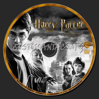 Harry Potter 1-6 dvd label