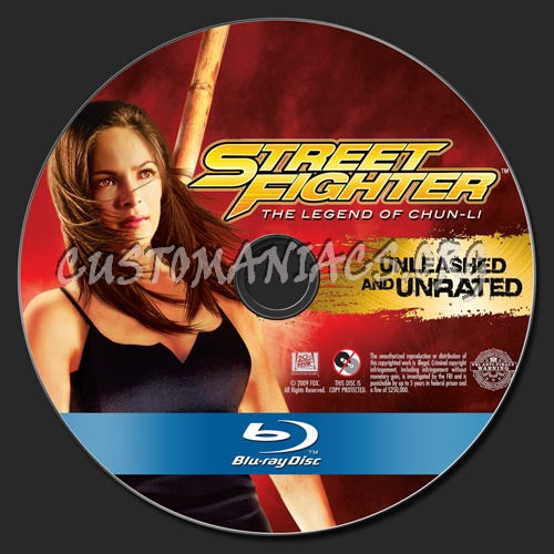 Street Fighter The Legend of Chun-Li blu-ray label