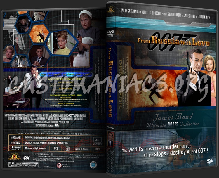 James Bond - From Russia With Love dvd cover