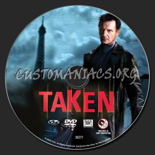 Taken dvd label