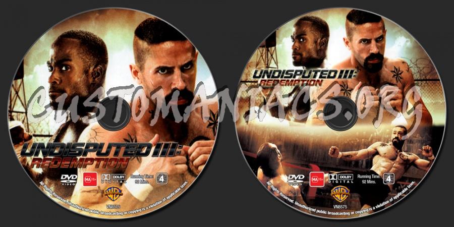 Undisputed 3 - Redemption dvd label