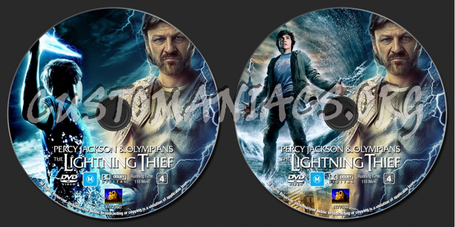 Percy Jackson And The Olympians - The Lightning Thief dvd label