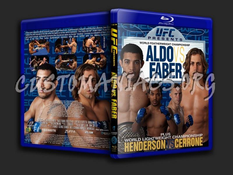 UFC present Aldo vs. Faber blu-ray cover