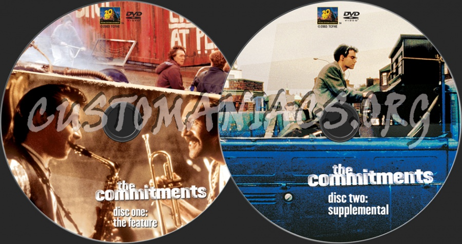 The Commitments dvd label