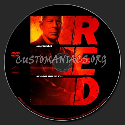 Red dvd label