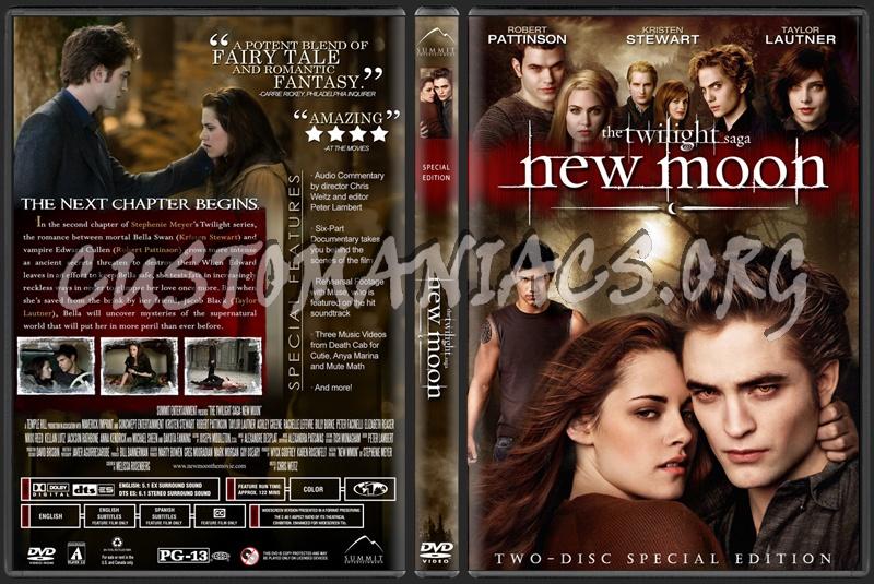 Twilight Saga: New Moon dvd cover