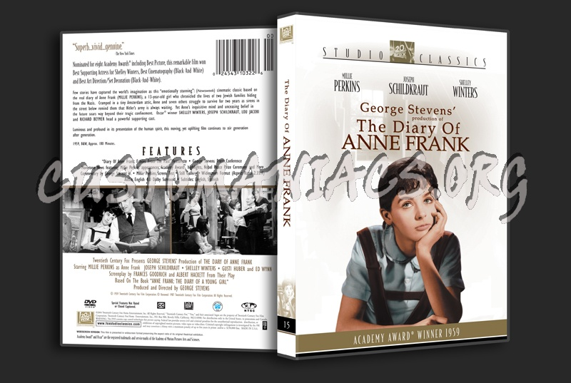 The Diary of Anne Frank dvd cover