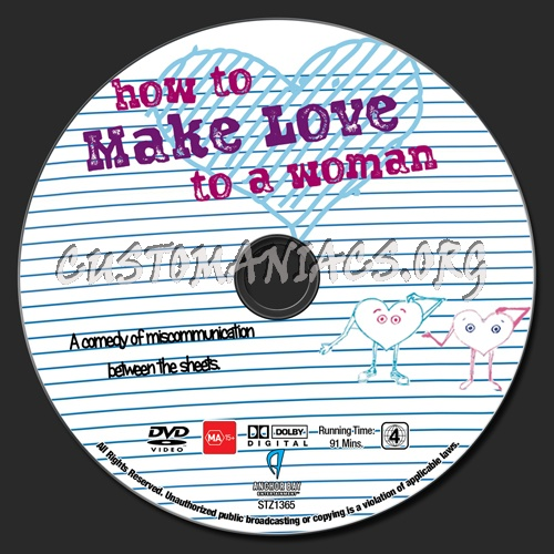 How To Make Love To A Woman dvd label