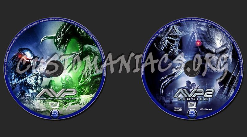 Alien vs Predator/Alien vs Predator Requiem blu-ray label