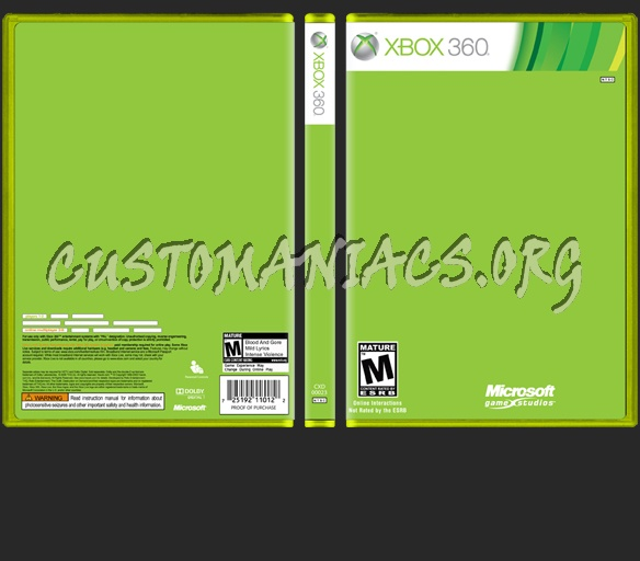 Xbox 360 New Template dvd label