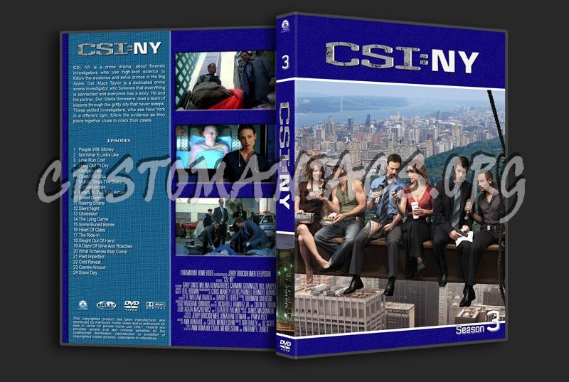 CSI New York dvd cover