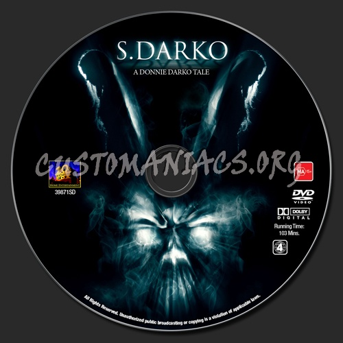 S Darko A Donnie Darko Tale Dvd Label Dvd Covers Labels
