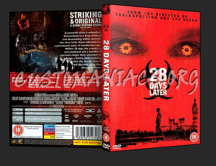 28 Days Later dvd cover