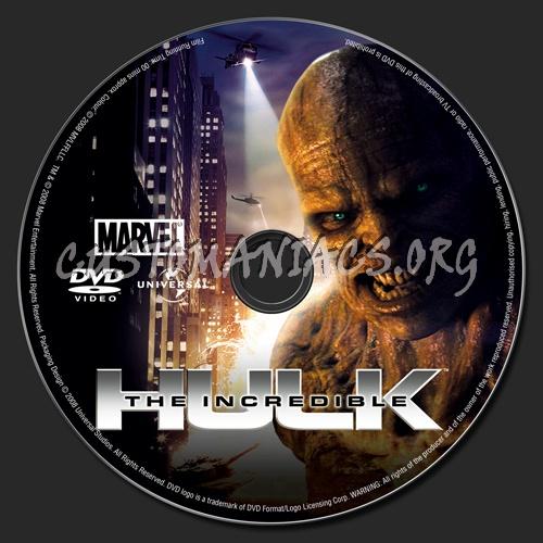 The Incredible Hulk Dvd Label