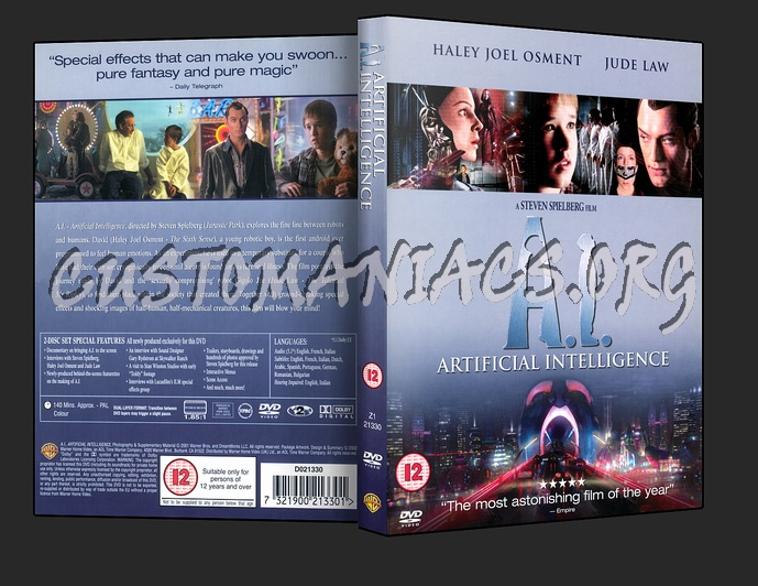 AI Artificial Intelligence dvd cover