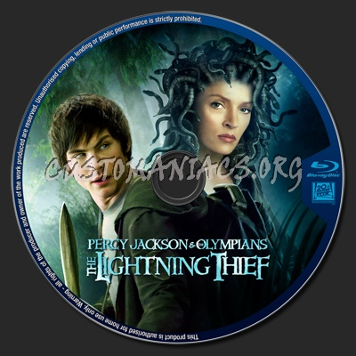 Percy Jackson and the olympians the lightning thief blu-ray label