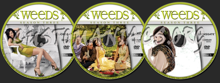 weeds season 3 dvd. Weeds - Season 3 dvd label. The quot;Customaniacs.orgquot; WATERMARK wil only be