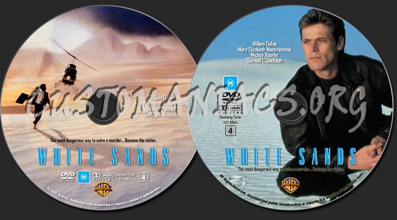 White Sands dvd label