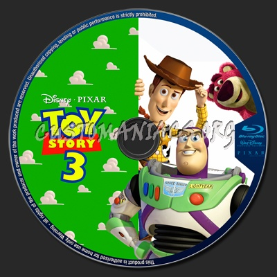 Toy Story 3 blu-ray label