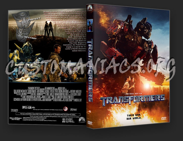 Transformers dvd cover