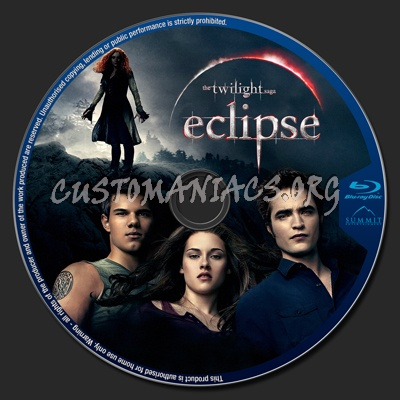 The Twilight Saga: Eclipse blu-ray label