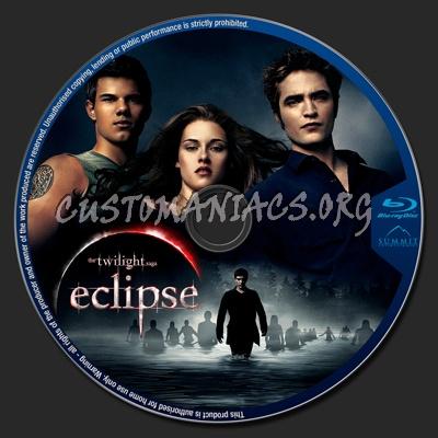 The Twilight Saga: Eclipse blu-ray label