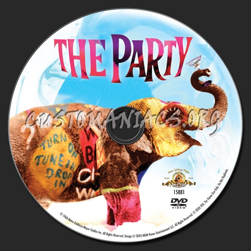The Party dvd label