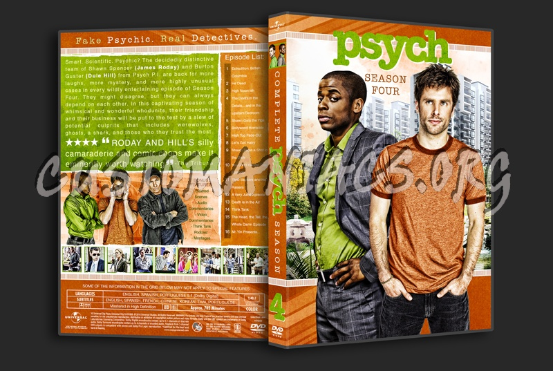 Psych Season 4 dvd cover - DVD Covers & Labels by