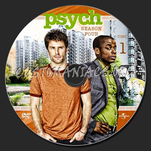 Psych Season 4 dvd label