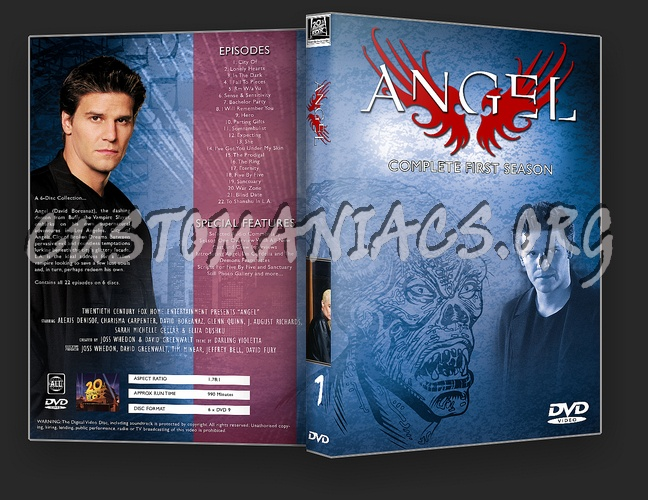 Angel Complete Series 1-5 dvd cover