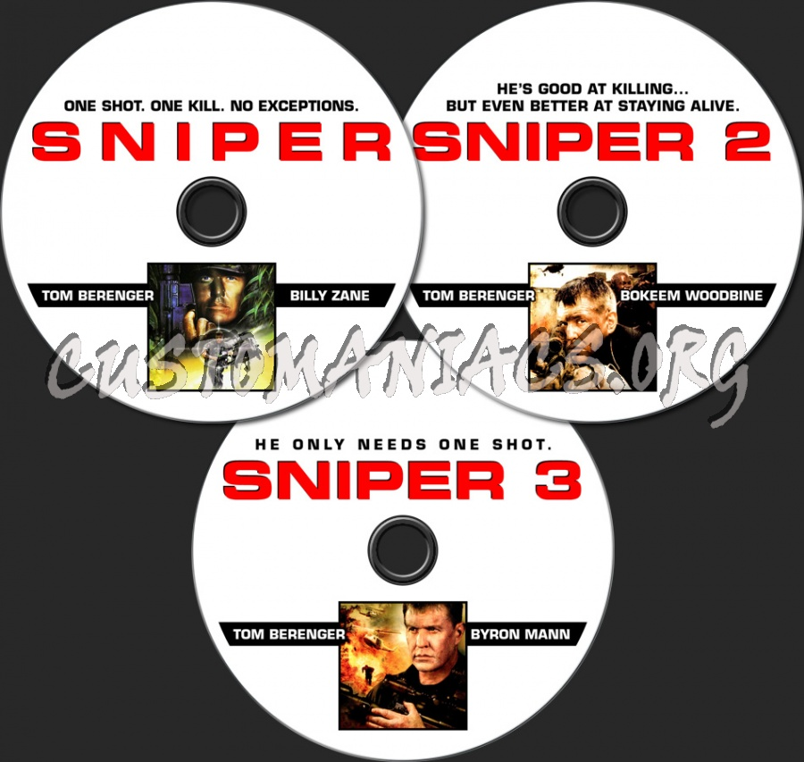 Sniper 1-3 dvd label