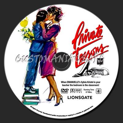 Private Lessons dvd label
