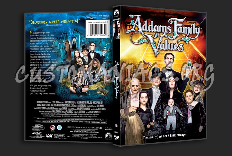 Family Values Cover Addams Family Values Dvd Cover