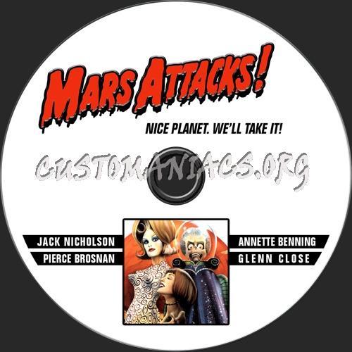 Mars Attacks dvd label