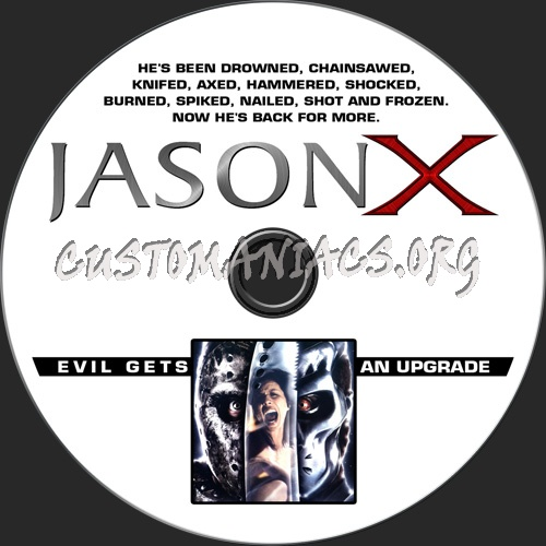 Jason X dvd label
