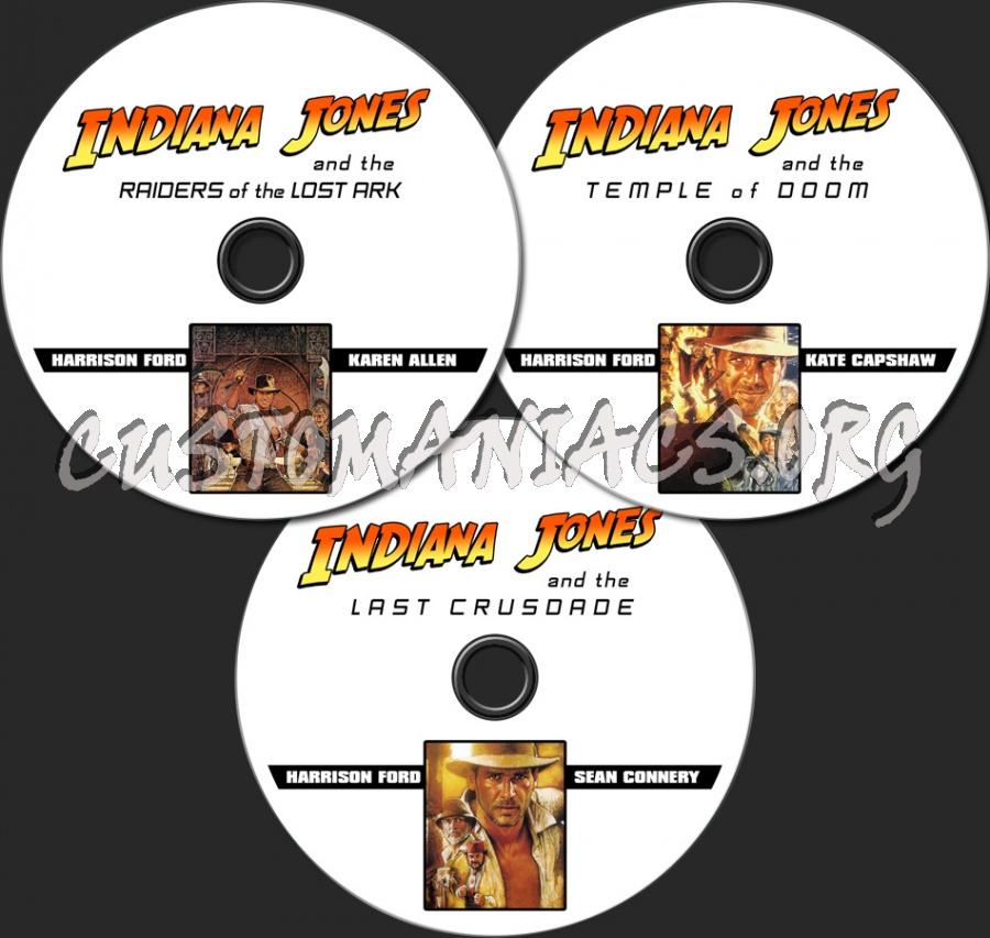 Indiana Jones 1-3 dvd label