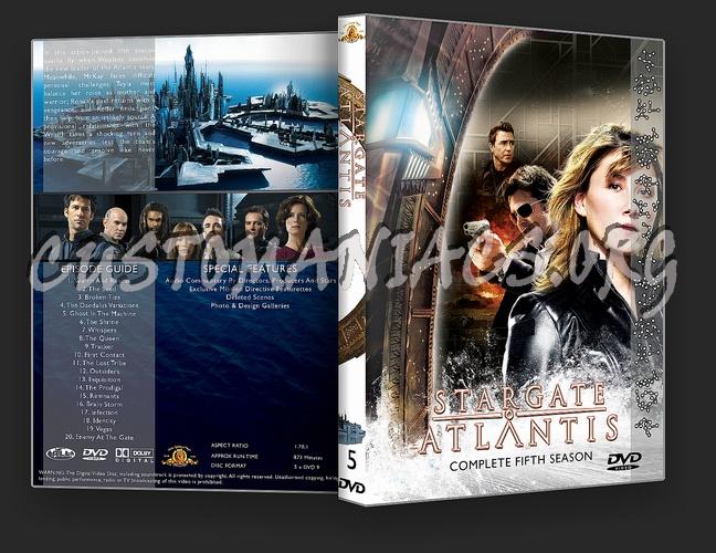 Stargate Atlantis Complete Season 1-5 dvd cover