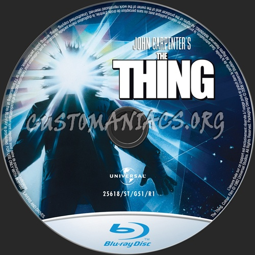 The Thing blu-ray label