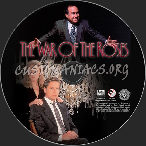 The War of the Roses dvd label
