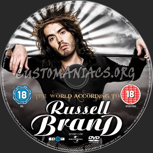 The World According to Russell Brand dvd label