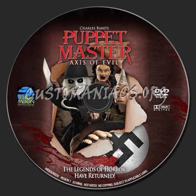 Puppet Master : Axis Of Evil dvd label