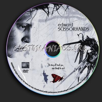 Edward Scissorhands dvd label