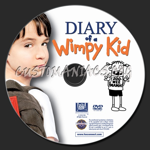 Diary Of A Wimpy Kid dvd label