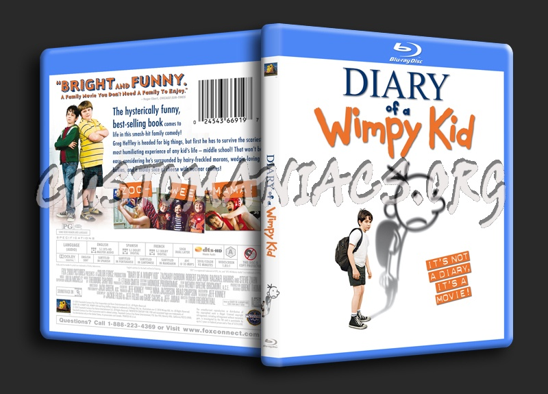 Diary Of A Wimpy Kid blu-ray cover